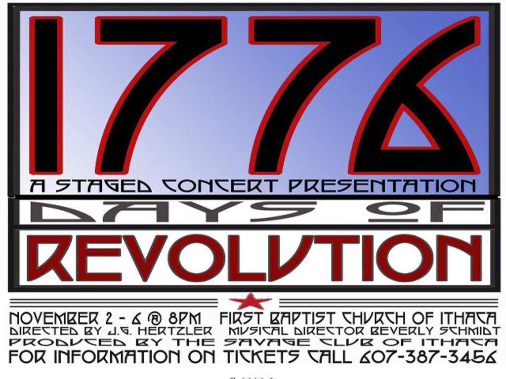 1776:  Days of Revolution's video poster