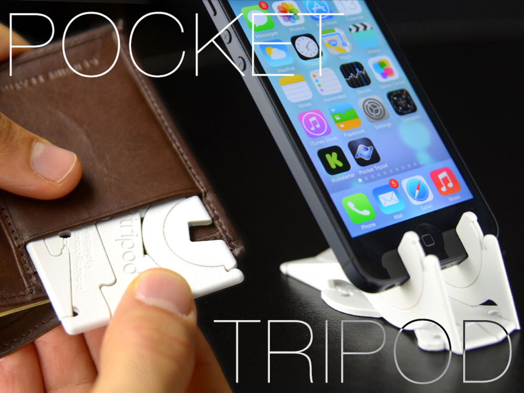 Pocket Tripod: 360° wallet-sized iPhone stand's video poster