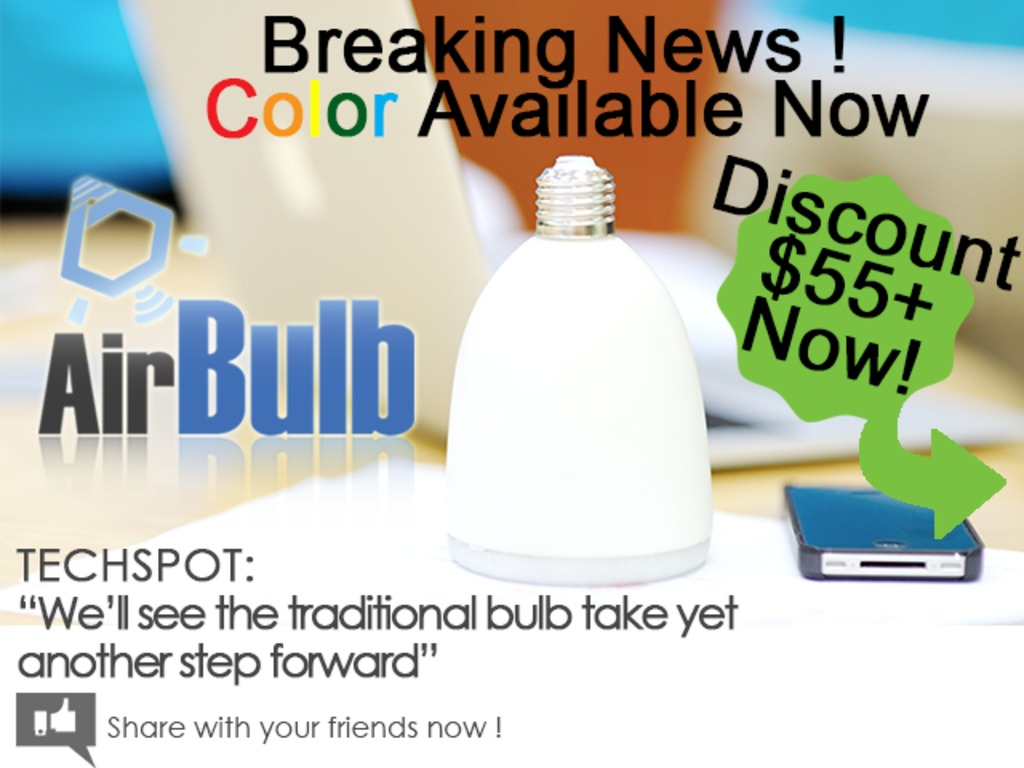 AirBulb -  a LED Bulb with Enjoyment (Canceled)'s video poster