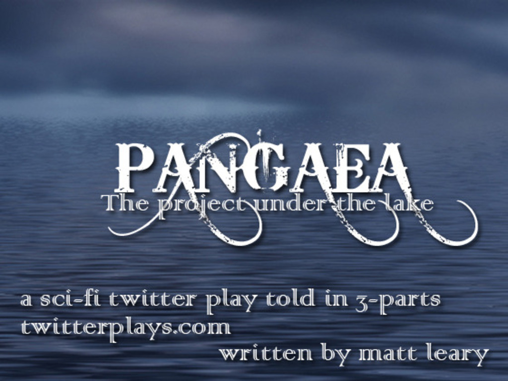 Pangaea - A sci-fi time travel twitter play told in 3-parts's video poster