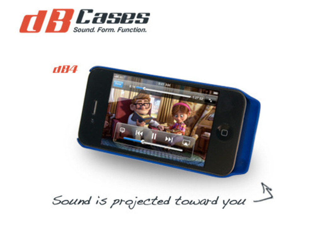 dB Case - Acoustic case that naturally amplifies your iPhone's video poster