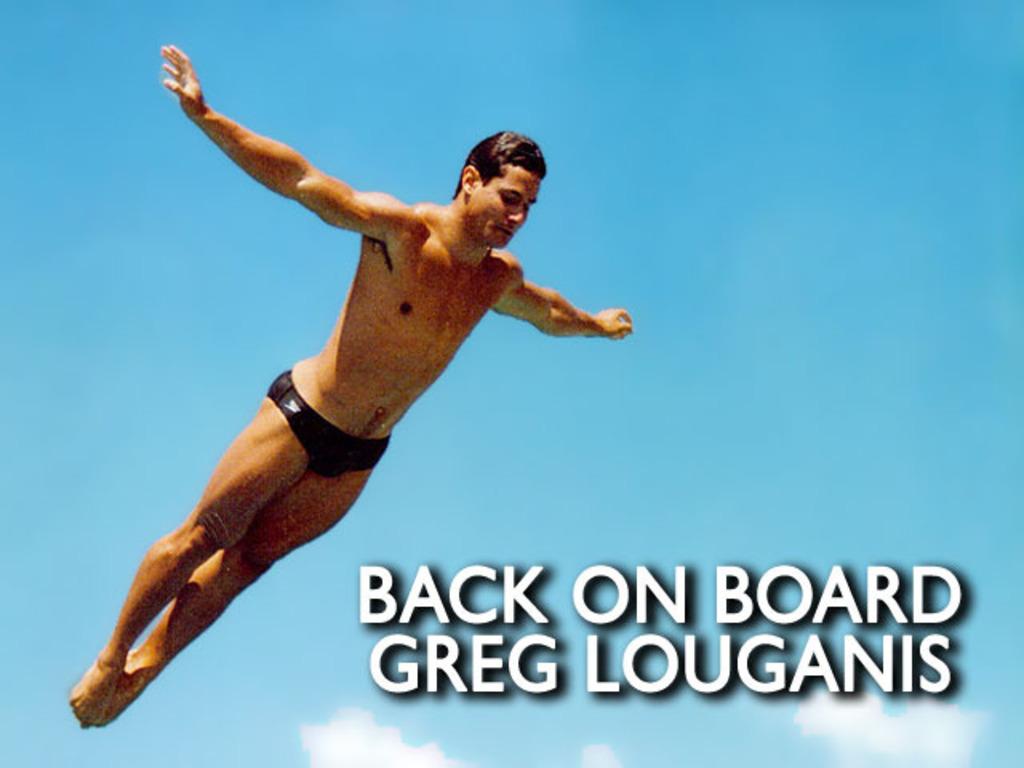GREG LOUGANIS documentary BACK ON BOARD's video poster