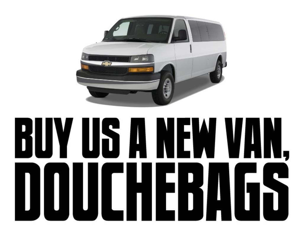 Buy Us A New Van, Douchebags's video poster