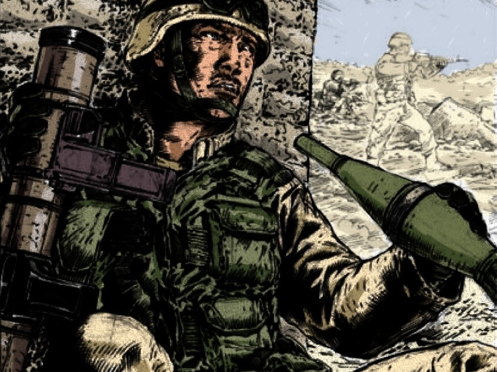 """No Enemy, But Peace"" graphic novel's video poster"