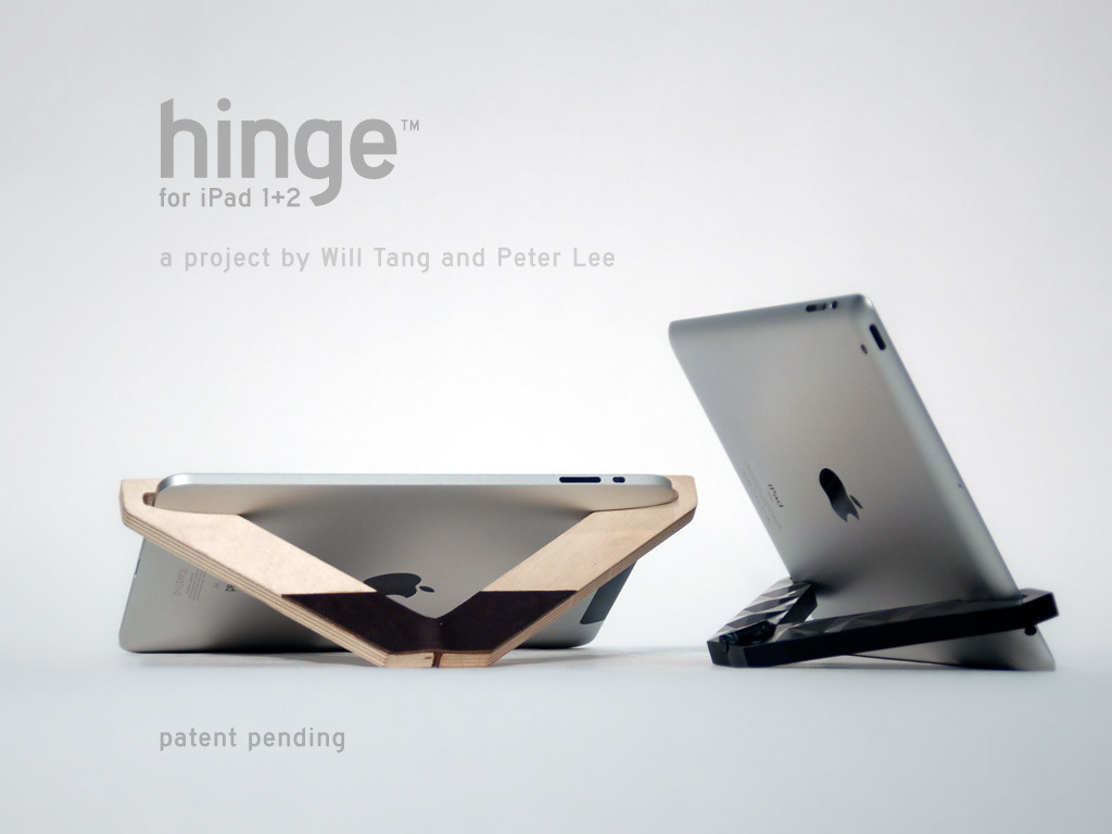 Hinge for iPad 1 + 2: compact & versatile tablet stand's video poster