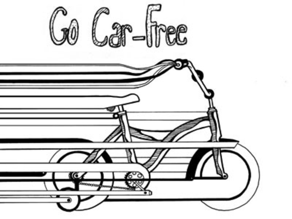 Go Car-Free, a Zine's video poster