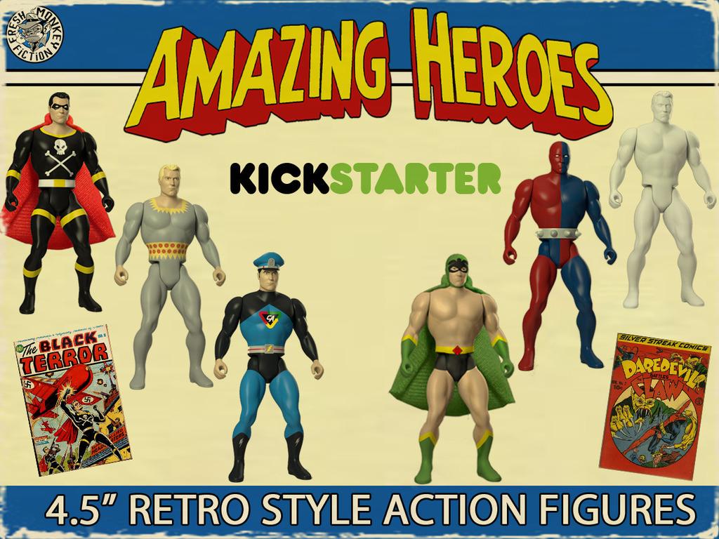 Amazing Heroes: Retro Style Super Hero Action Figures's video poster