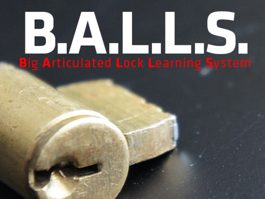 B.A.L.L.S. — Big Articulated Lock Learning System's video poster