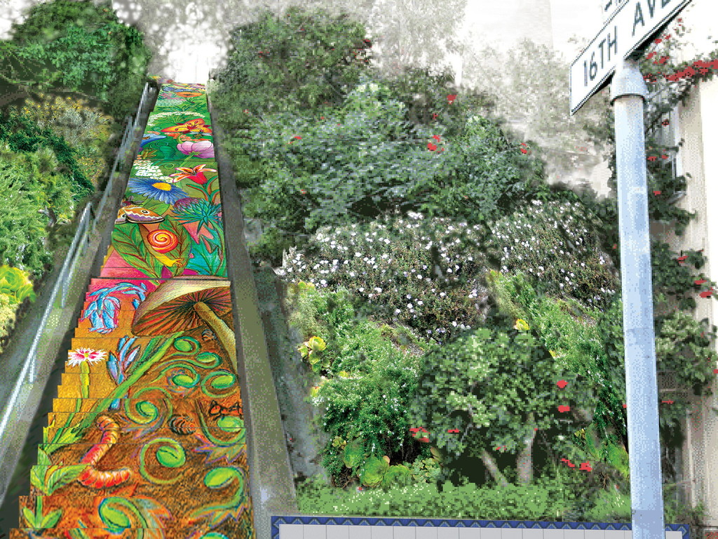Tile the Hidden Garden steps & honor LGBTs's video poster