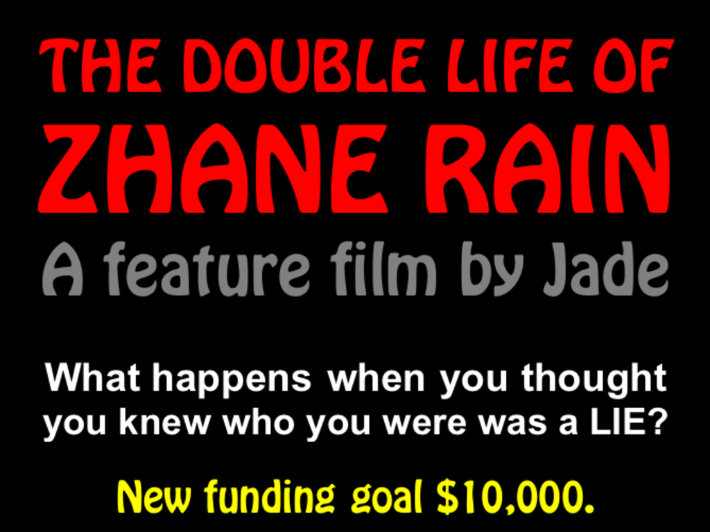 THE DOUBLE LIFE OF ZHANE RAIN (Social Change Feature Film)'s video poster