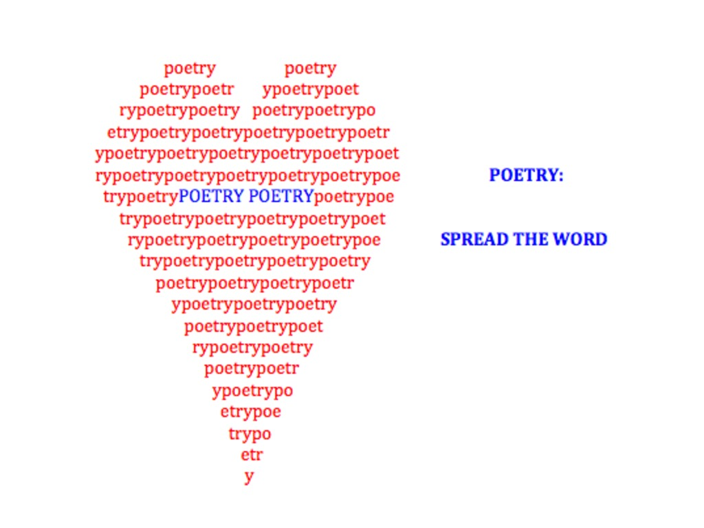 Poetry: Spread the Word's video poster