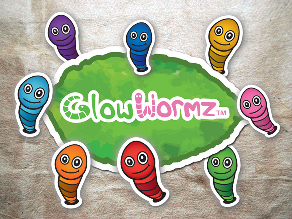 GlowWormz: Translucent Stickers for your Mac laptop's video poster