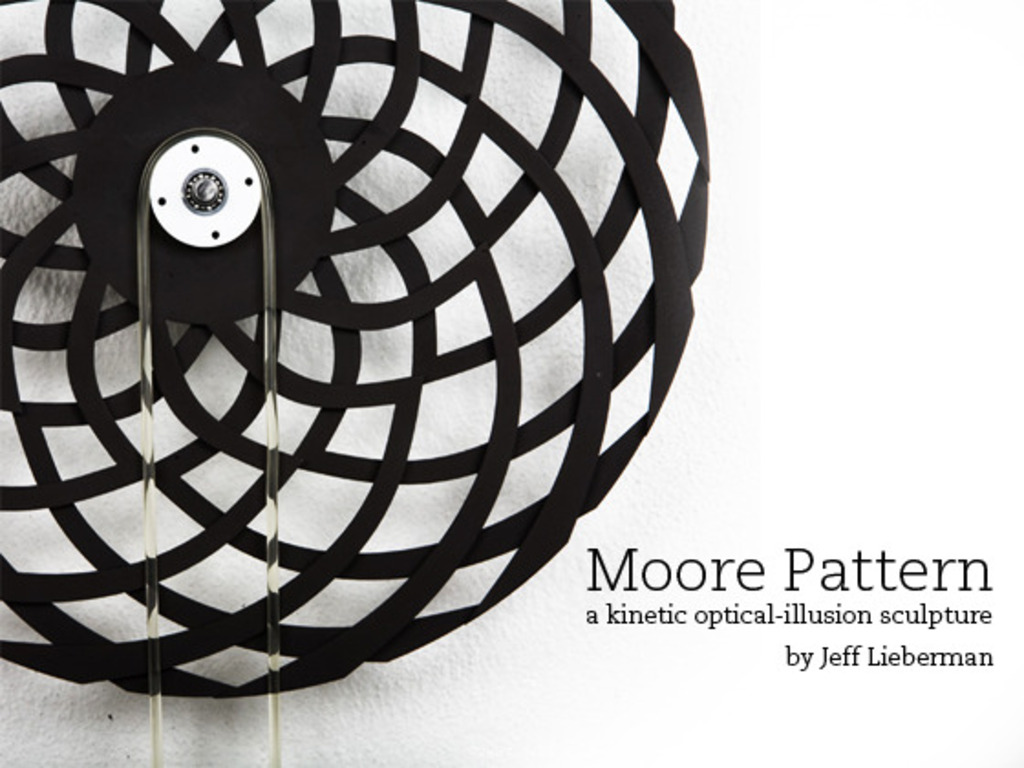 Moore Pattern — a kinetic optical-illusion sculpture's video poster