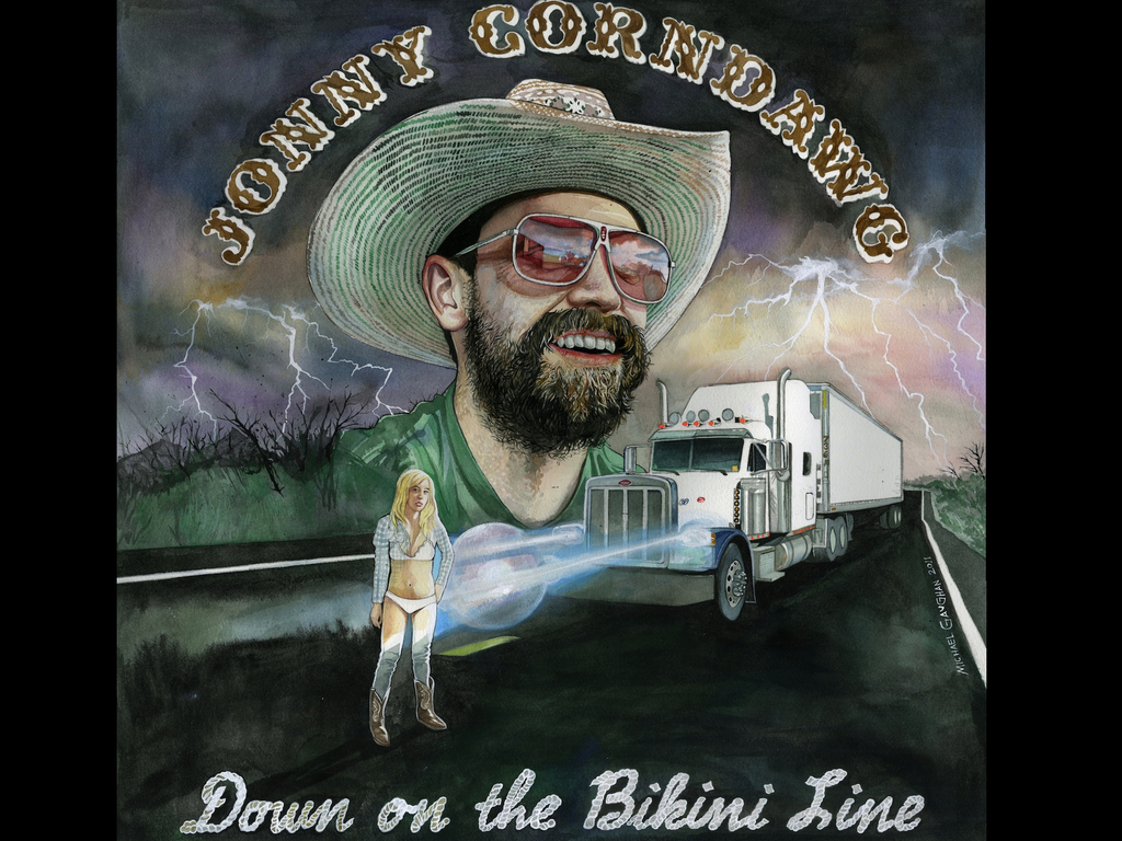 Jonny Corndawg: Down on the Bikini Line album project's video poster