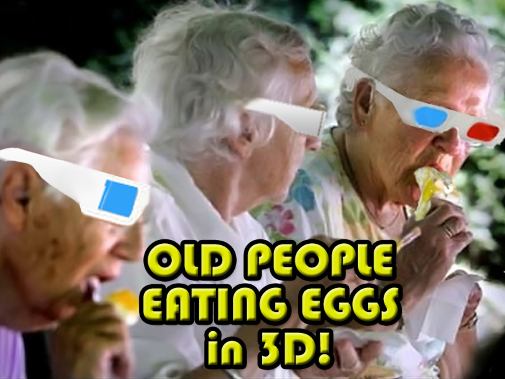 Old People Eating Eggs in 3D!'s video poster