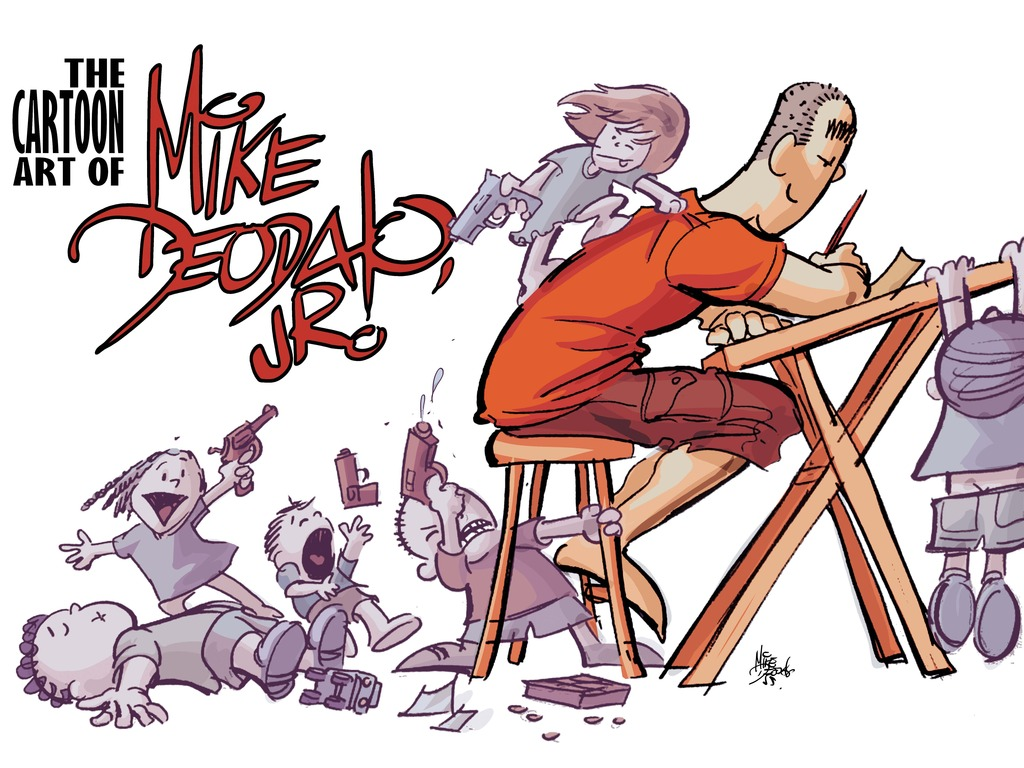 THE CARTOON ART OF MIKE DEODATO, JR. -- Volume 1's video poster