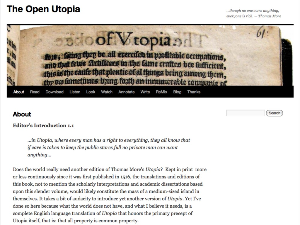 The Open Utopia: A New Kind of Old Book's video poster