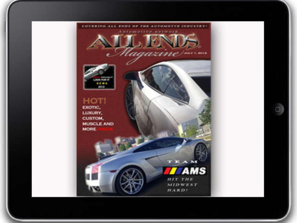 All Ends Magazine.  The automotive multimedia magazine's video poster