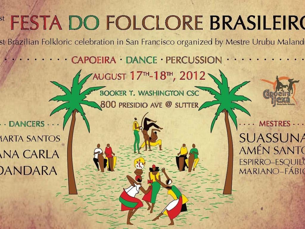 1st Festa do Folclore Brasileiro's video poster
