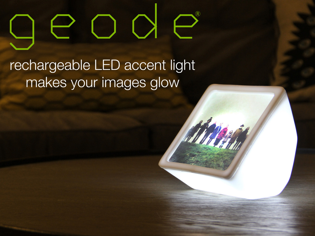 GEODE: Make your own photos glow with this LED light's video poster