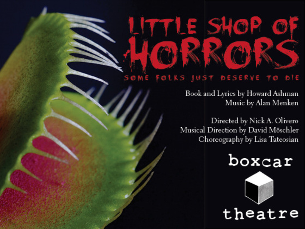 "Boxcar Theatre's ""Little Shop of Horrors""'s video poster"