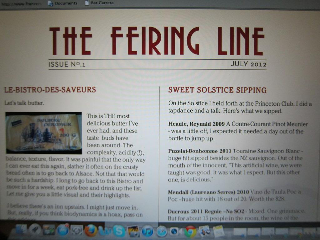 THE FEIRING LINE: THE REAL WINE NEWSLETTER's video poster