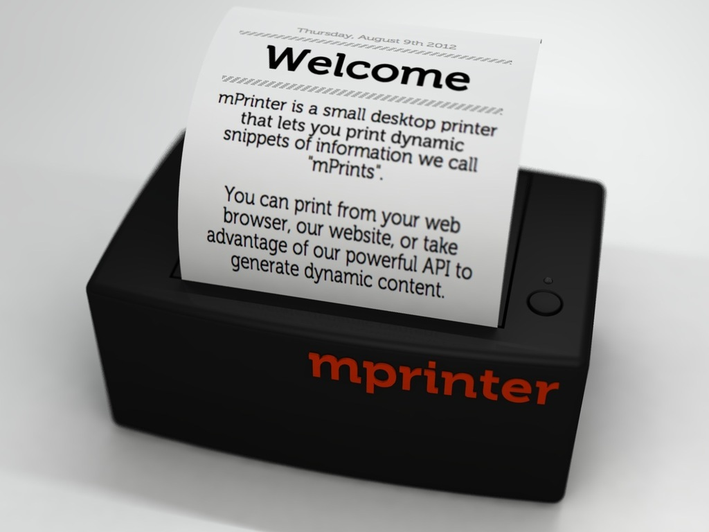 mPrinter - An analog printer for a digital world's video poster