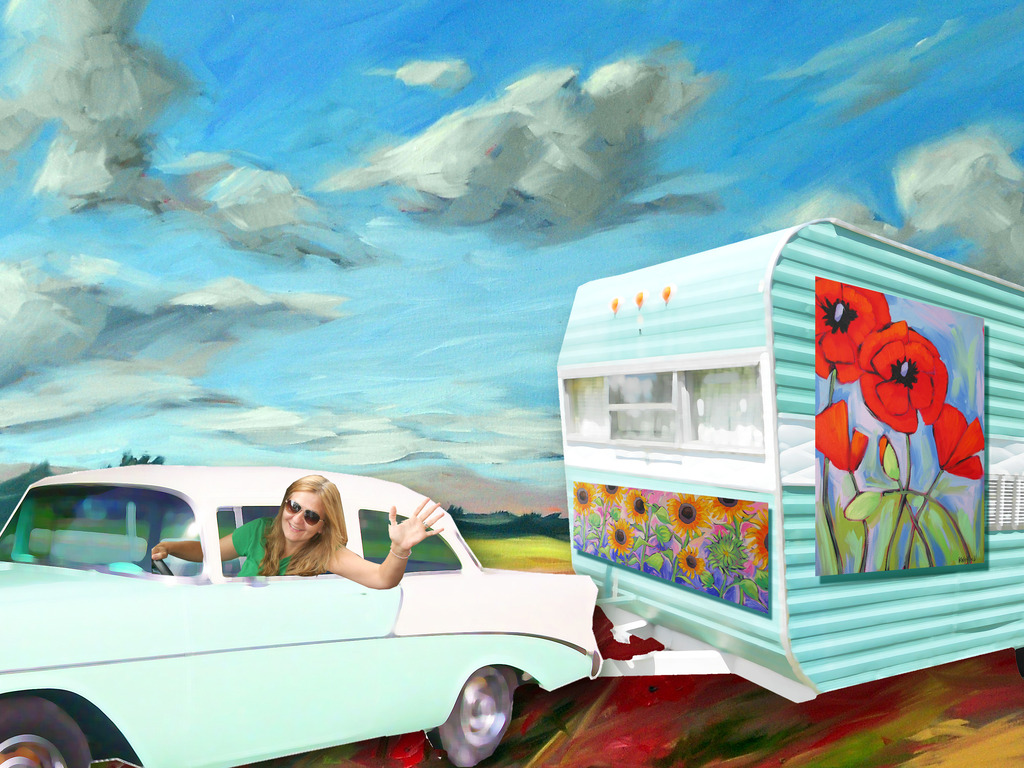 The Happy Camper: a mobile art gallery project's video poster