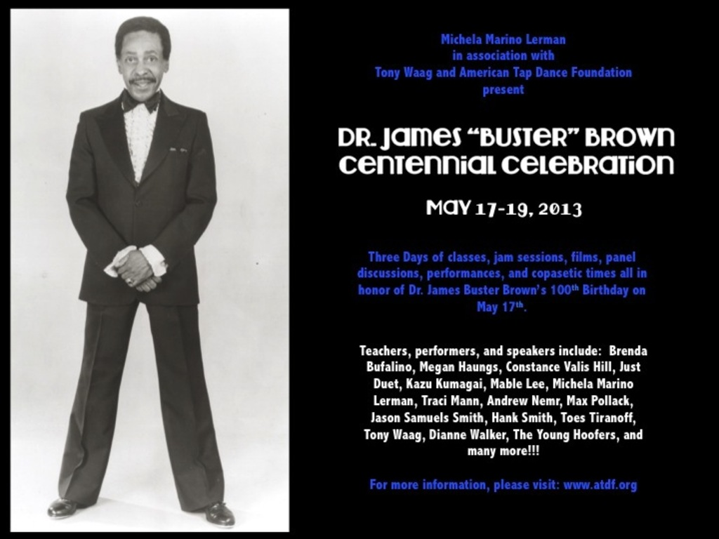"Dr. James ""Buster"" Brown Centennial Celebration's video poster"