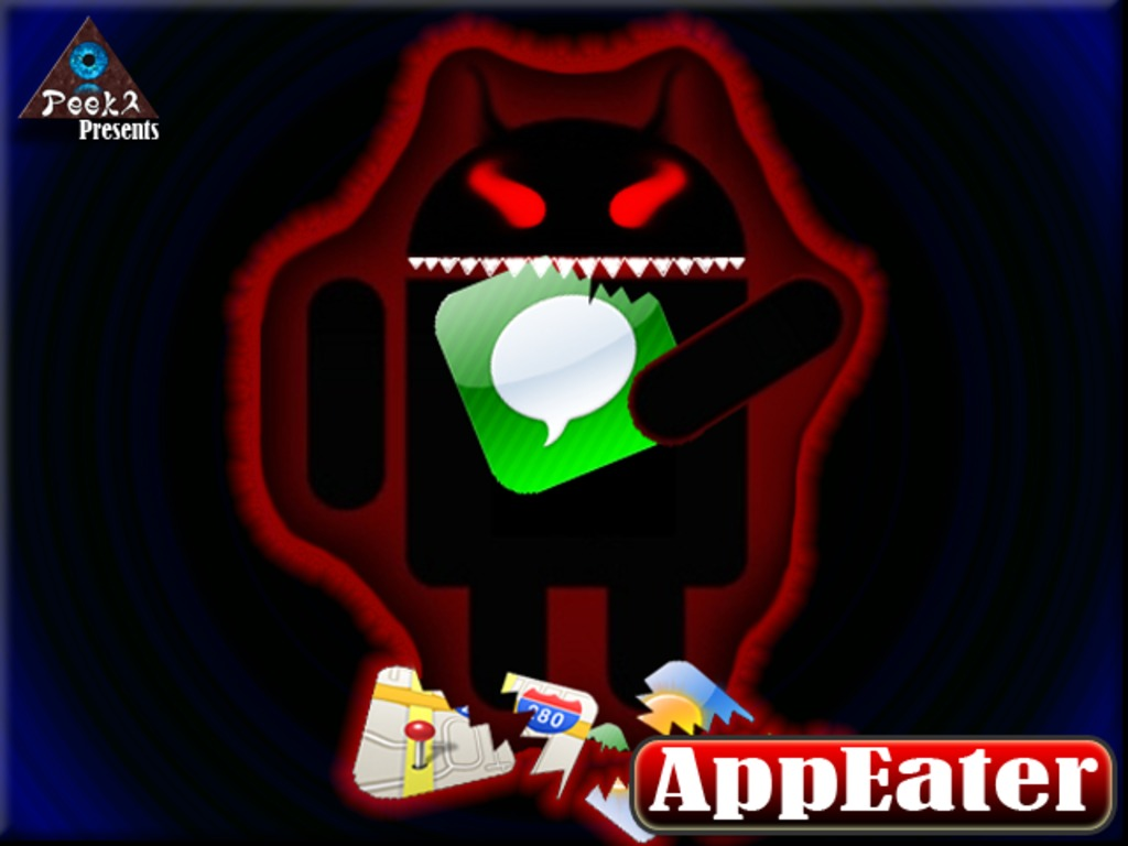 AppEater - Your Mobile desktop will never be safe again!'s video poster