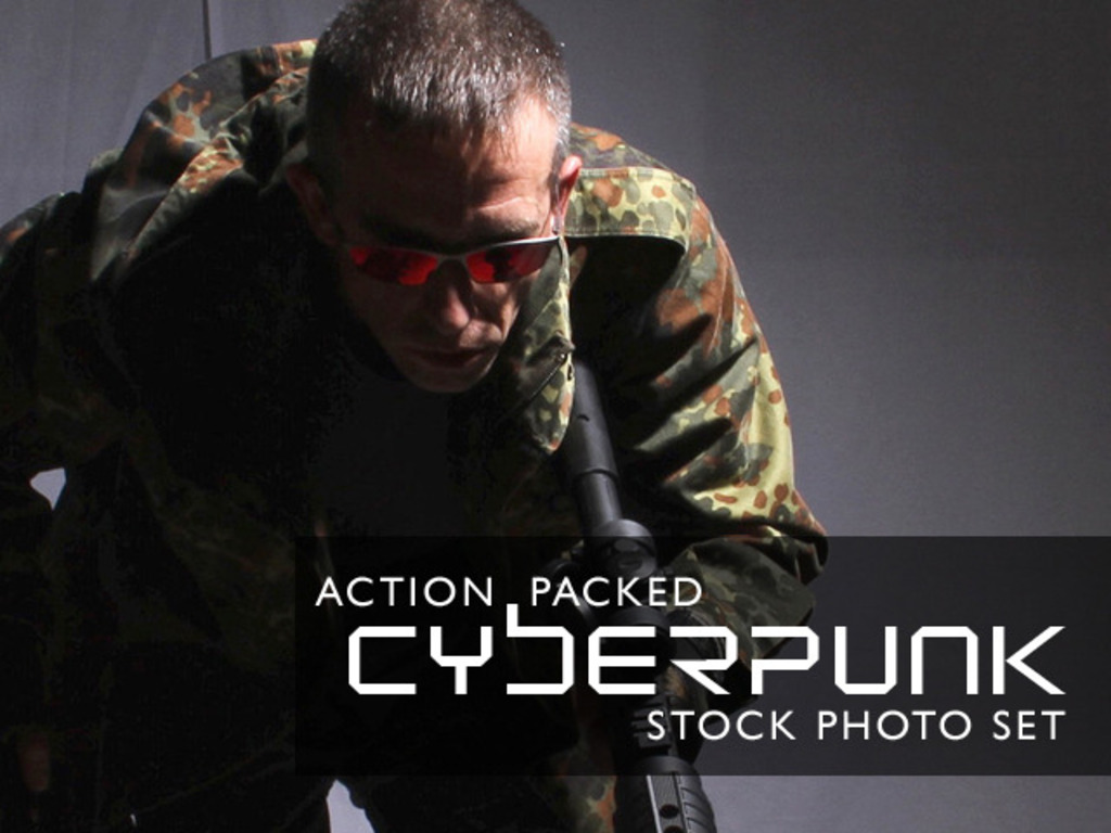Action Packed Cyberpunk Stock Photo Set's video poster