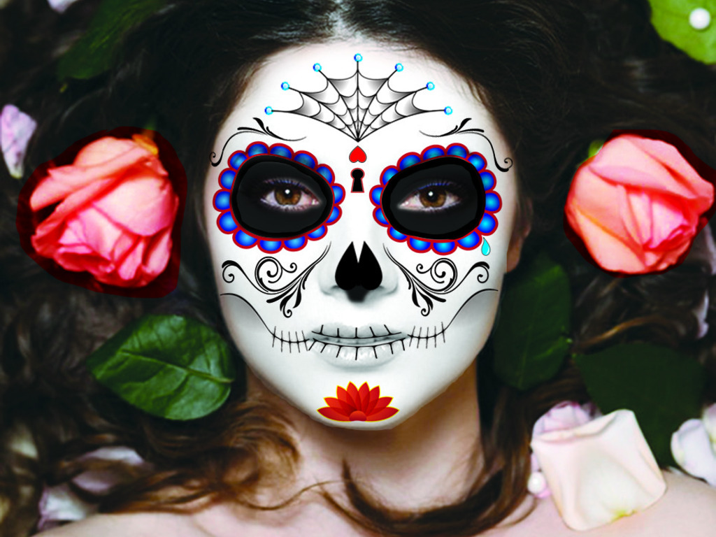 Sugar Skull Temporary Tattoos for Halloween /Day of the Dead's video poster