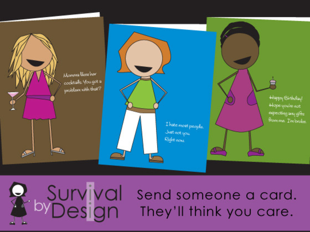 Survival By Design Cards for the Wicked Smart and Sassy's video poster
