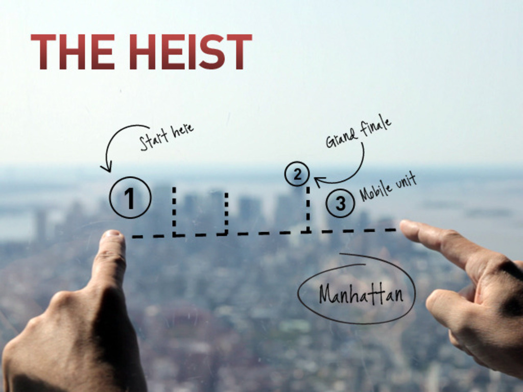 THE HEIST's video poster