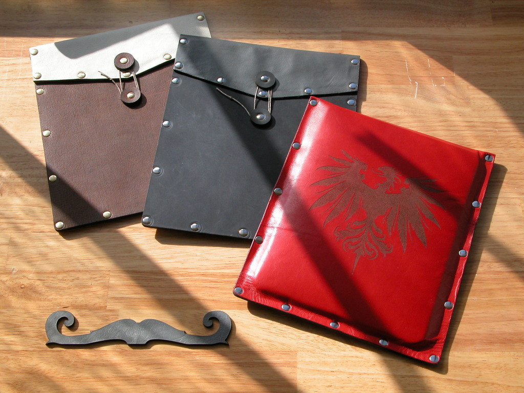 Leather Envelope Case & Mustache Stand for iPad's video poster