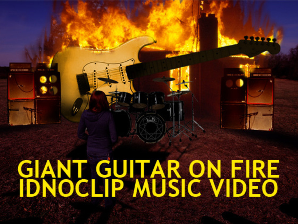 a giant guitar on fire. a short film by IDNOCLIP.'s video poster