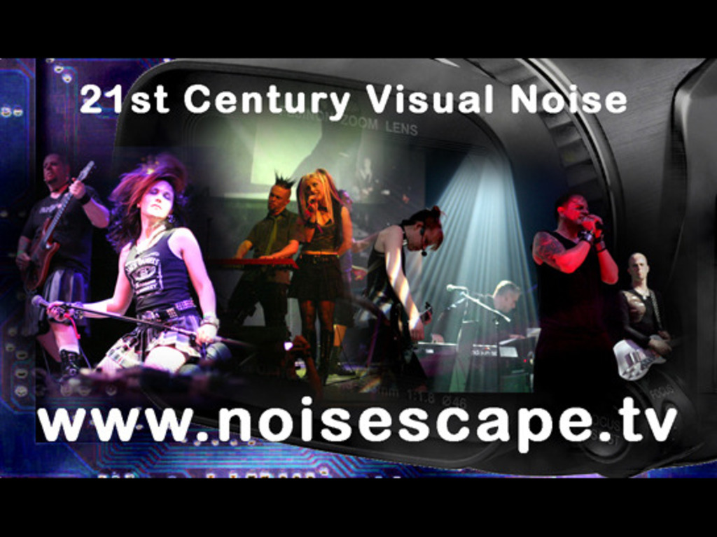 Noisescape TV new HD video camera fundraiser's video poster