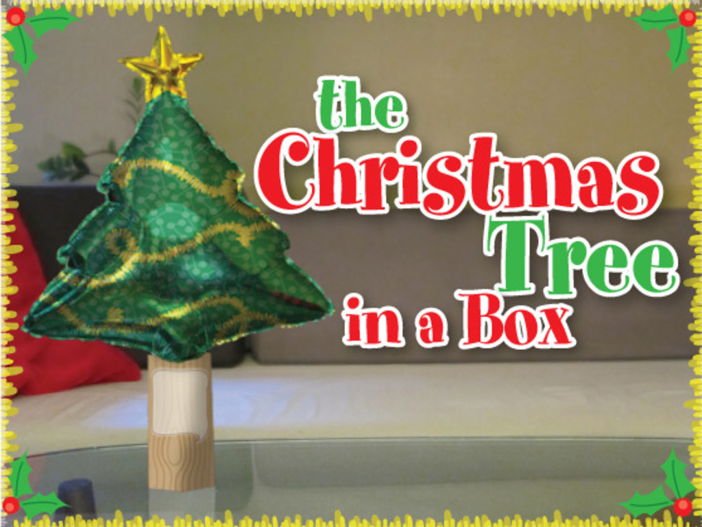 The Christmas-Tree-in-a-Box Greeting Card's video poster