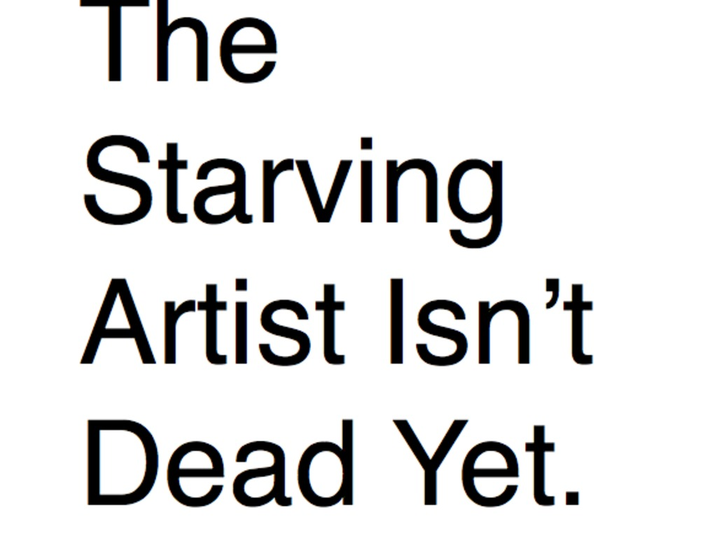 The Starving Artist Isn't Dead Yet.'s video poster