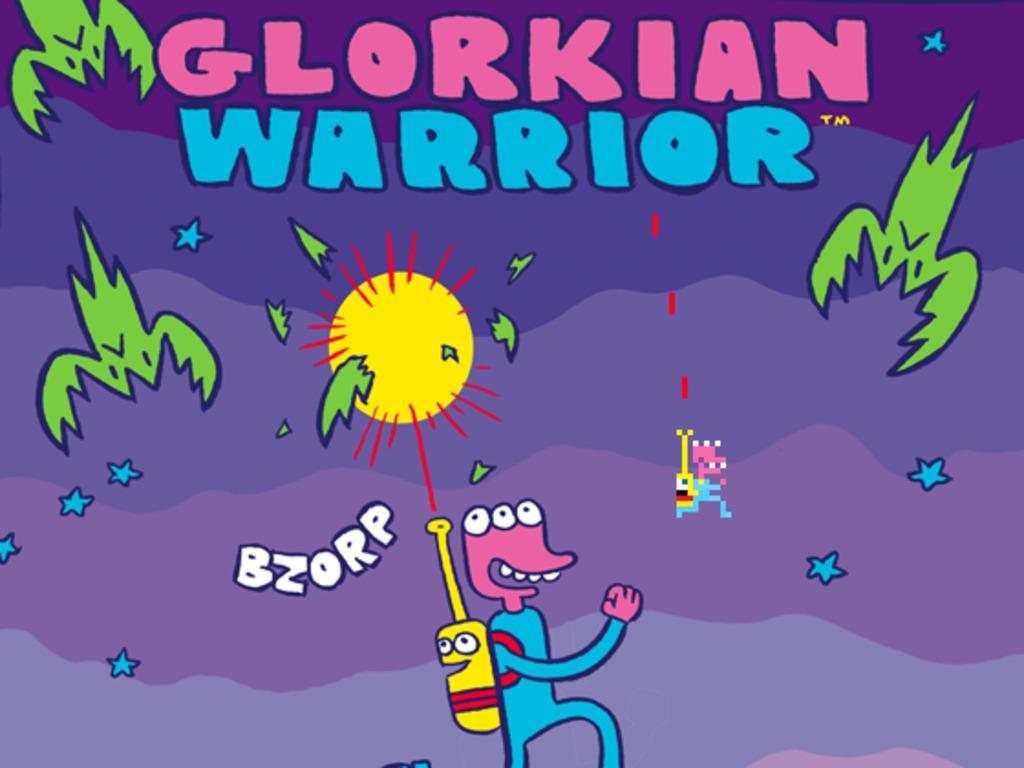 James Kochalka + Pixeljam = Glorkian Warrior's video poster