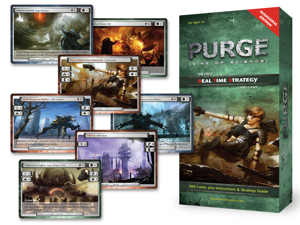 PURGE: Sins of Science- The 1st Real Time Strategy Card Game's video poster
