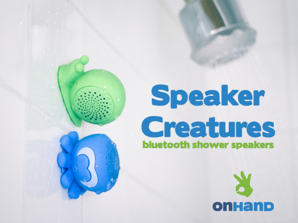Speaker Creatures by OnHand  - Bluetooth Shower Speakers's video poster