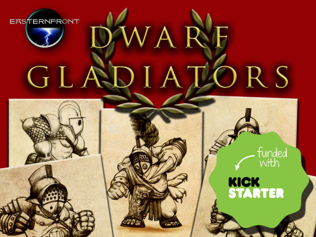 Dwarf Gladiators - finely sculpted 28mm resin miniatures's video poster