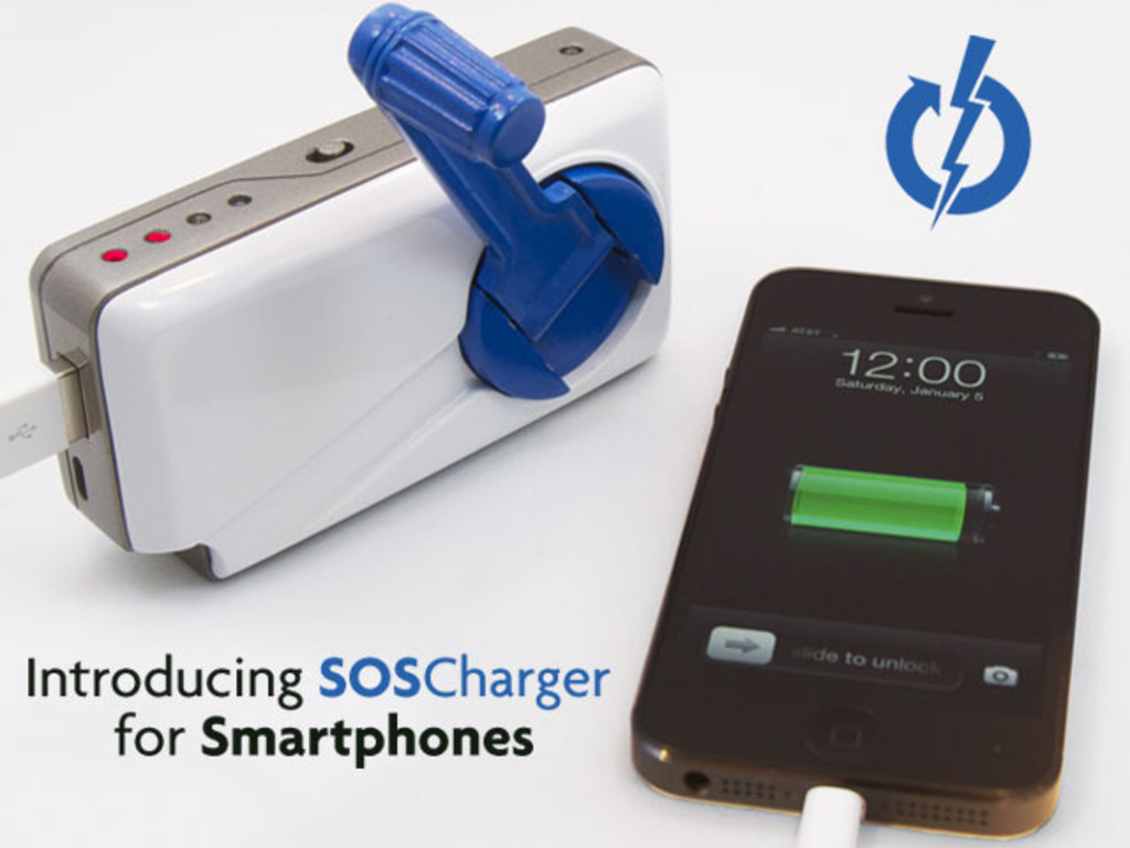 SOSCharger Self-Powered iPhone & Smart Phone Charger's video poster