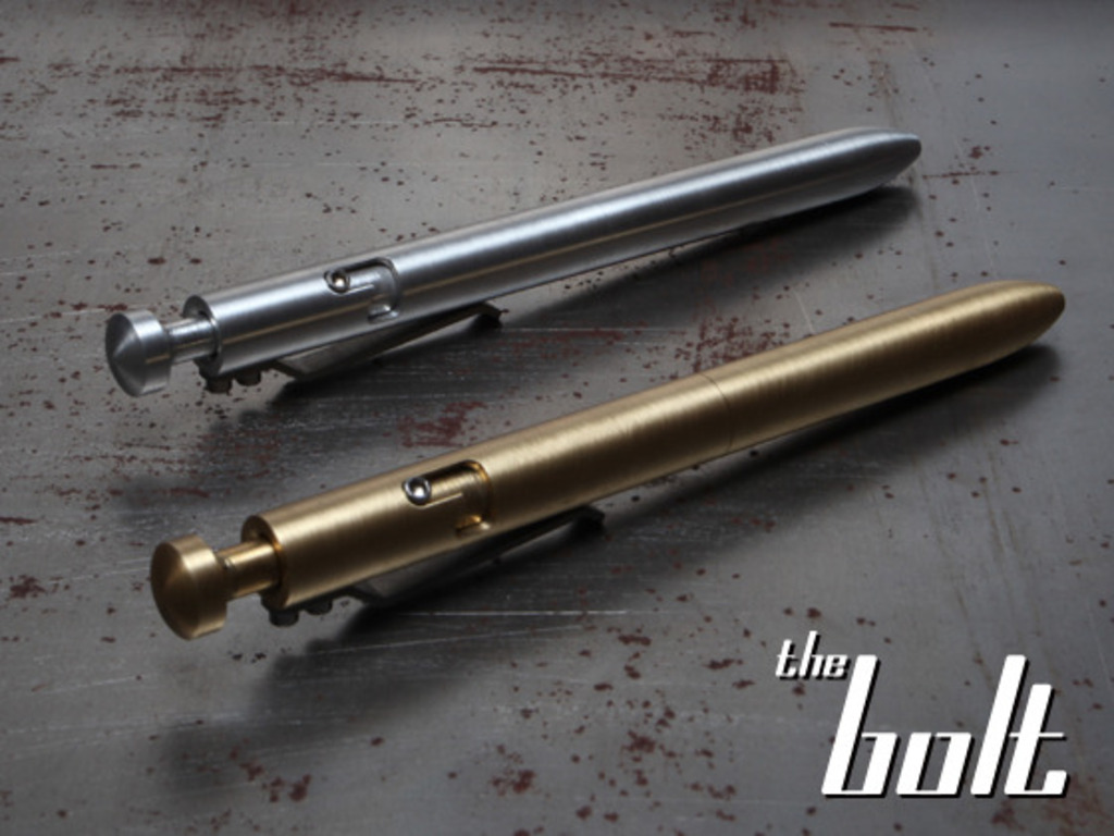The BOLT- A Machined Bolt Action Pen's video poster