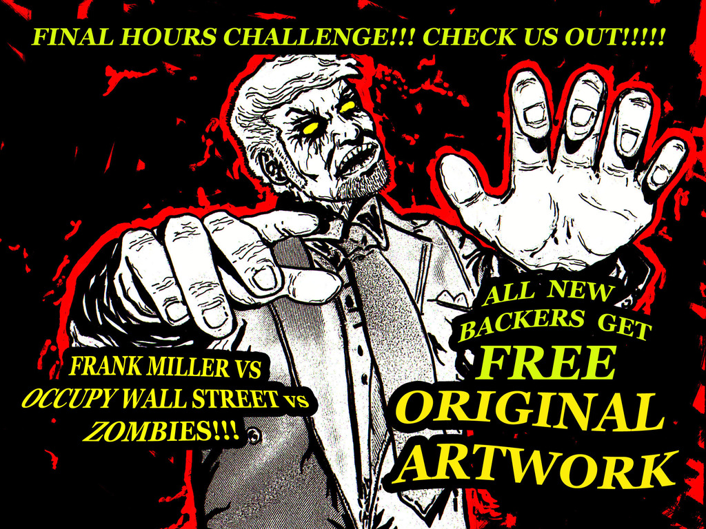 FRANK MILLER vs OCCUPY WALL STREET vs ZOMBIES - HELL YEAH!!'s video poster
