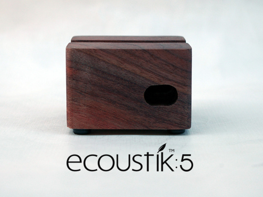 Ecoustik 5 :: Sustainable wood acoustic dock for iPhone 5.'s video poster