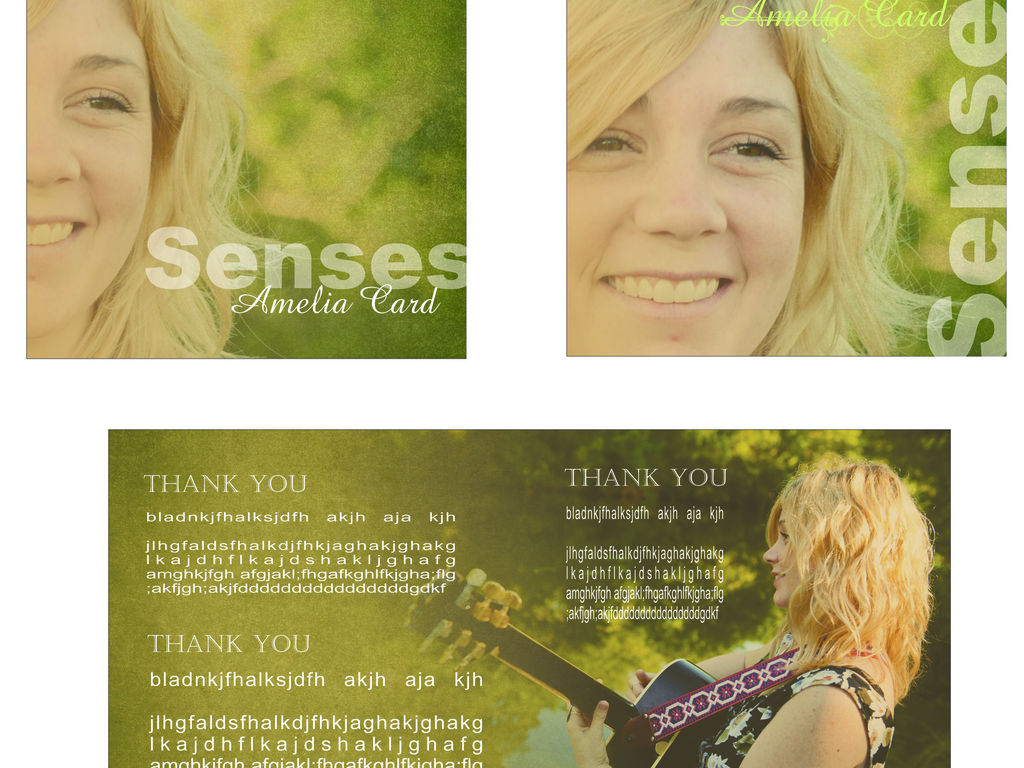 """Amelia Card's FIRST CD """"Senses""""'s video poster"""