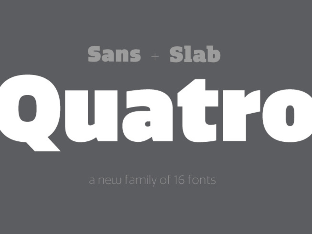 Quatro Typeface - a 16 font OpenType Family's video poster