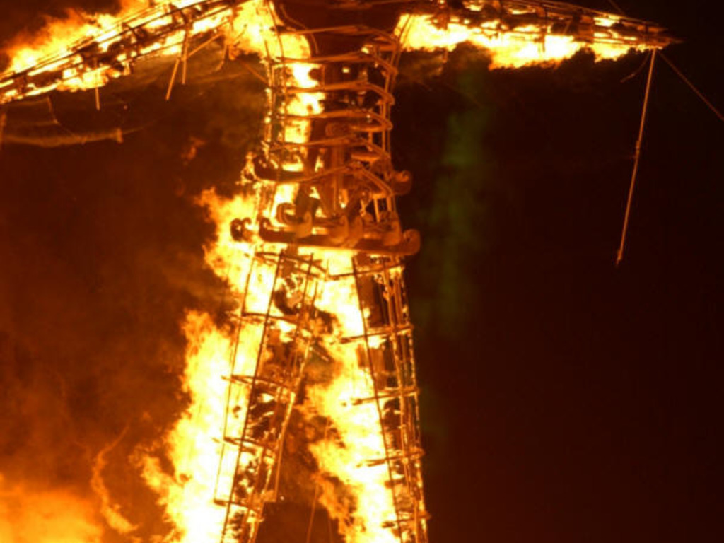 Burning Man and The Meaning of Life's video poster